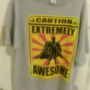 Boys t-shirt Caution Extremely Awesome, Spectra
